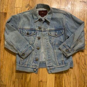 Light blue vintage denim cropped jacket